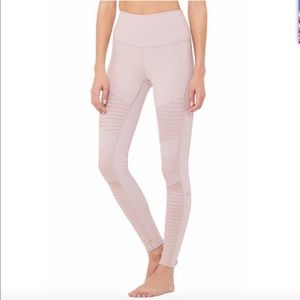 Alonyoga high waist moto leggings lavender small